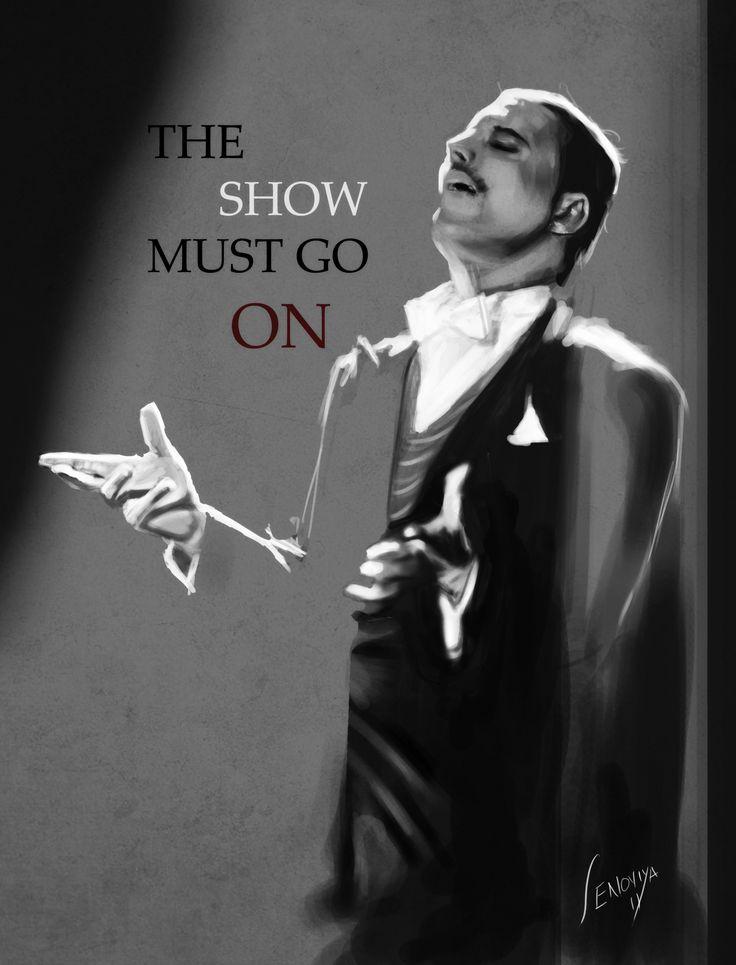 EL SHOW DEBE CONTINUAR.-   Freddy Mercury ----  the_show_must_go_on__by_senoviy (2555×3350)