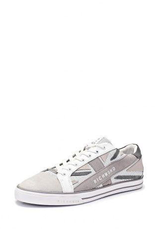 Модные полуботинки от Richmond выполнены из натуральной кожи. Модель декорирована замшевыми вставками, образующими рисунок в виде британского флага. Логотипы бренда дополняют дизайн. Перефорированный верх позволит ногам 'дышать', а кожаная подкладка обеспечит комфорт при носке. Эти полуботинки - отличный вариант для ценителей удобной и качественной обуви в спортивном стиле. http://j.mp/1pNySPP