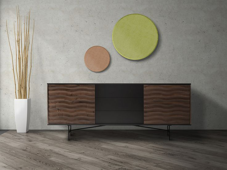 40% off all storage online now. The Maui Sideboard is crafted with a walnut and charcoal finish, patterned trims and a steel base. Perfect to create a contemporary modern feel. Pattern detailing on the doors with three built in drawers - L160 X W45 X H75