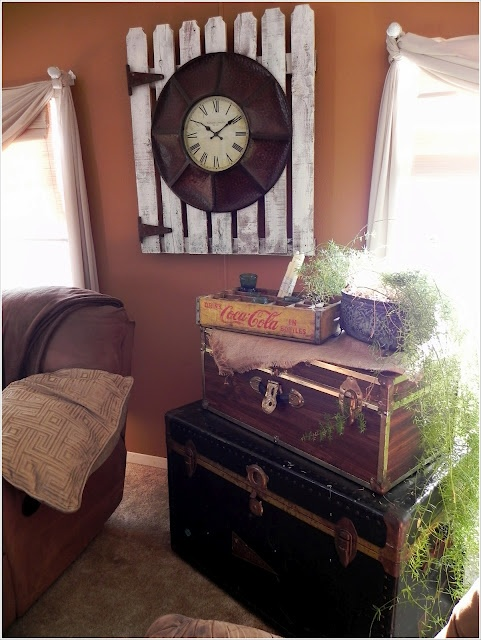 A Southern Belle With Northern Roots Mobile Home Clock On Old Gate And