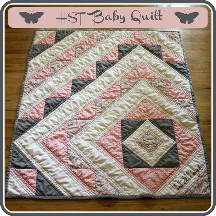 Ricochet and Away!: HST baby quilt tutorial....I absolutely love this. Would go buy the fabric to make it right now, if only I could sew.