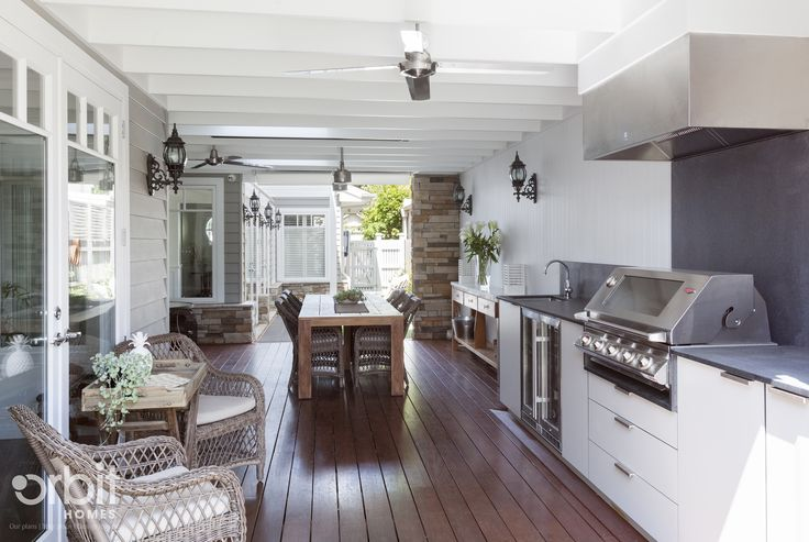Hamptons Style Alfresco Outdoor Living Area Features A