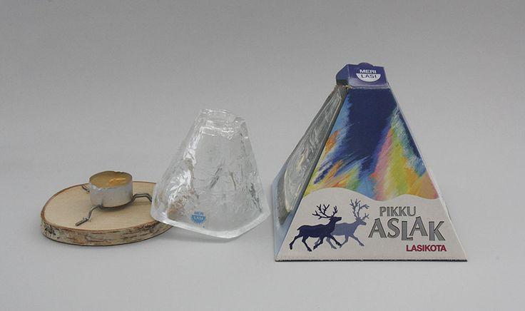 Glass hut / candleholder, Little Aslak, Sea Glass Ltd. (Merilasi)