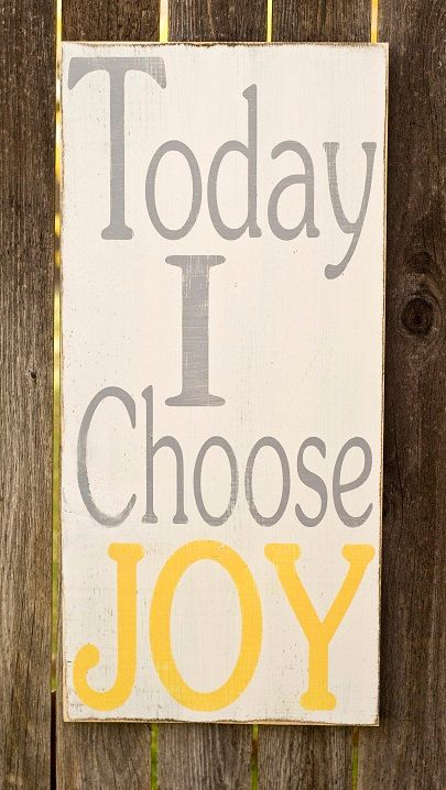 Today I Choose JOY  Typography Art Sign  Distressed by WordWhipped, $55.00