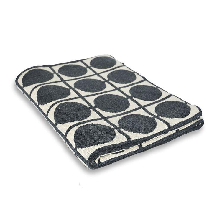 Wohndecke Adle mit Punkt Muster | Öko-Tex zertifiziert | kuschelige Decke aus Baumwolle | Größe wählbar (130x170 cm): Amazon.de: Küche & Haushalt