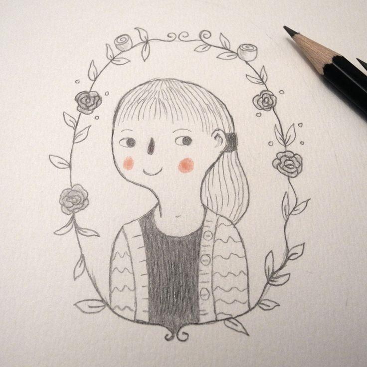 """""""Self Portrait"""" illustrated by Judith Loske www.judith-loske.de"""