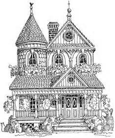 Impression Obsession Cling Mounted Rubber Stamp - Victorian House
