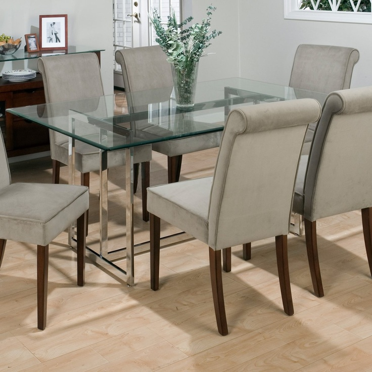 Jofran Bethel Rectanglar Glass Top Dining Table   The contemporary Bethel  Rectangular Glass Top Dining Table was built with a tubular steel frame  with a  81 best Glass top dining room tables images on Pinterest   Glass  . Glass Table For Dining Room. Home Design Ideas