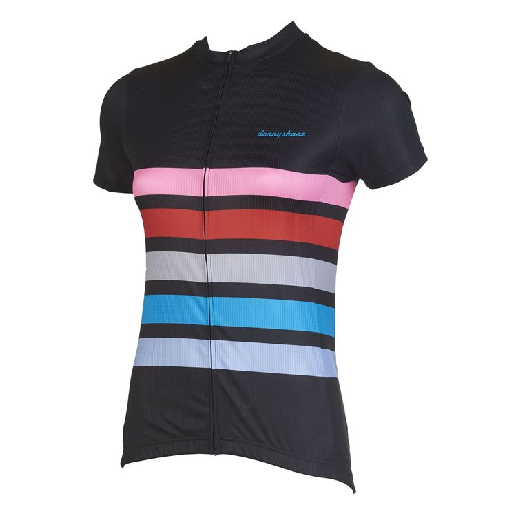 Women's Romer Black Performance Jersey   DannyShane   Designer Cycling Apparel