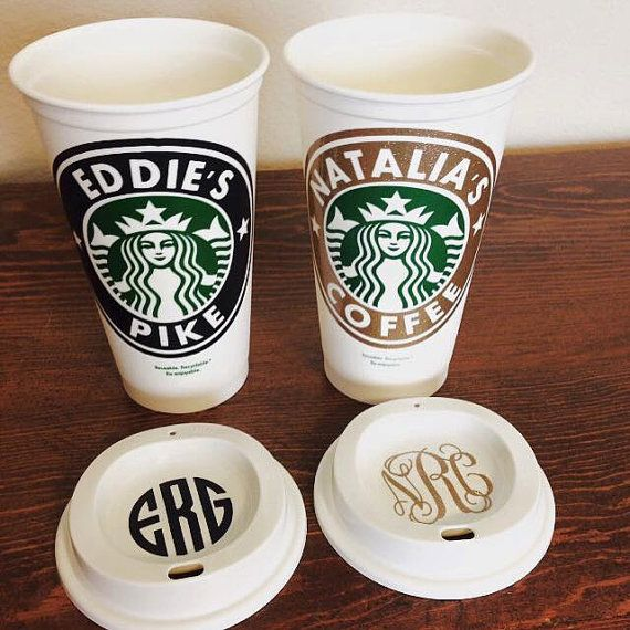 Starbucks Personalized Coffee Cup Reusable by SSCBOWTIQUE on Etsy