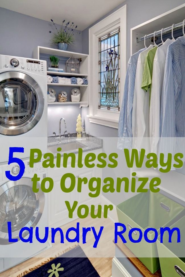 Learn 5 quick and easy tips to FINALLY get your laundry room organized!