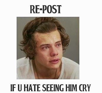 Worst thing ever!!!! I love him too much to see him cry
