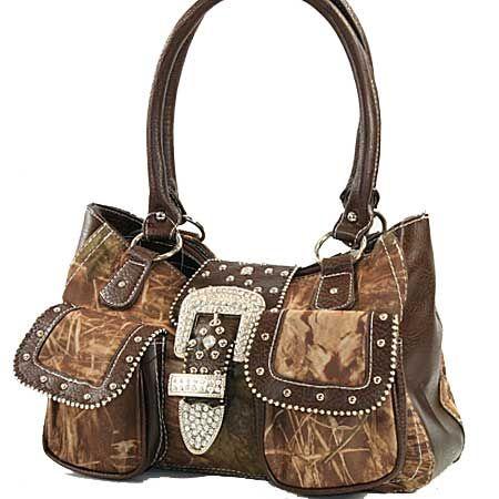 Mossy Oak Camo Buckle Handbag