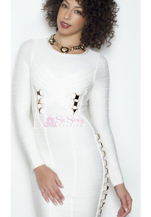 'JEN' Long Sleeve Bandage Dress - Celeb Style Dresses - Dresses