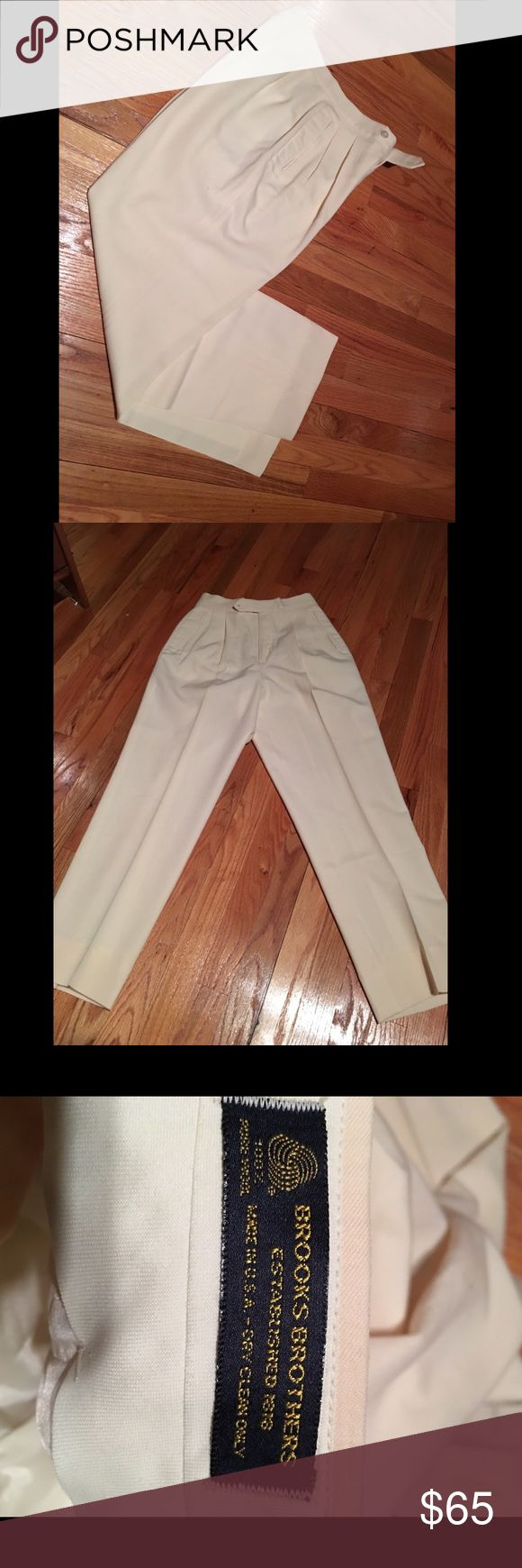 Brookes brother dress pants Brand new never worn brookes brothers work pants. Cream color brookes brothers Pants Trousers