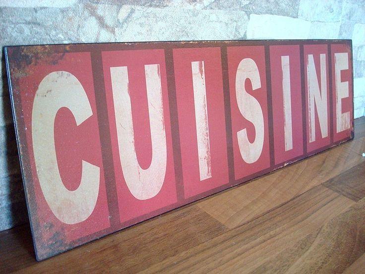 plaque murale cuisine, déco cuisine rétro | plaques décoratives