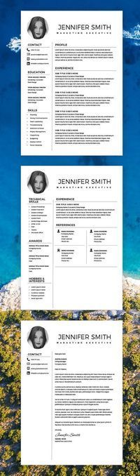 Resume Template Marketing, Resume Template Word Creative, Resume With  Photo, Free Cover Letter  Executive Resume Templates Word