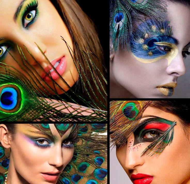 mirada impactante Maquillaje de cara de halloween
