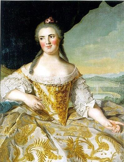 Jean-Marc Nattier, Portrait of Louise Elisabeth de France, Duchess of Parma (Galleria Nazionale Parma)