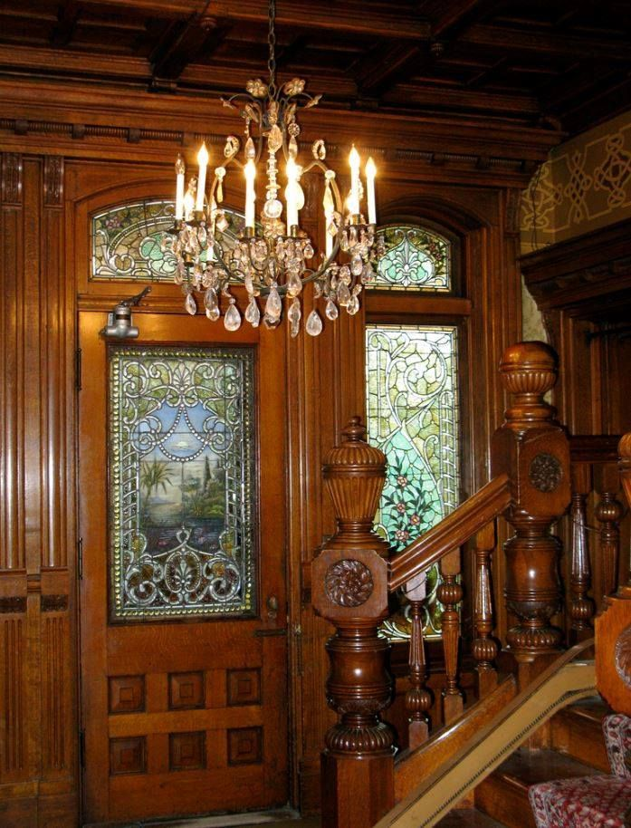 Entry with Stained Glass ~ via carmen carol