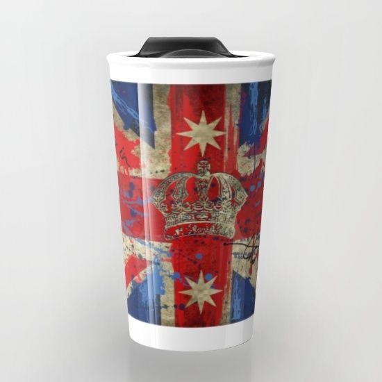Union Jack & Eureka Flag Travel Mug