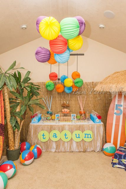 Amazing Beach Party!  See more party ideas at CatchMyParty.com!  #partyideas #beach