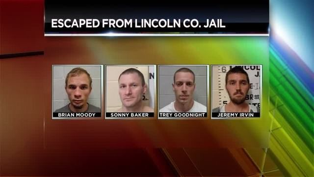 In Lincoln County, Oklahoma Law enforcement agencies are searching for four inmates who escaped from the county jail.