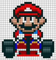 Mario Kart perler bead pattern