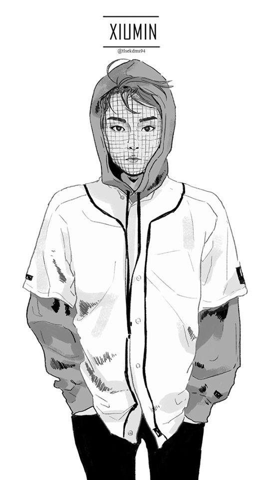 Exo: Xiumin; Fan Art. [K-pop]