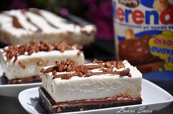 Cheesecake fara coacere cu Oreo si Merenda