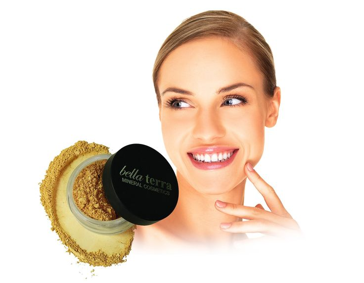 Bella Terra Cosmetics Mineral Foundation, Nutmeg, 8g. Protect and treat with a truly all-in-one multi-tasker. All natural mineral pigments easily blend into skin while providing natural sun protection and calming redness and irritation. Made in US.