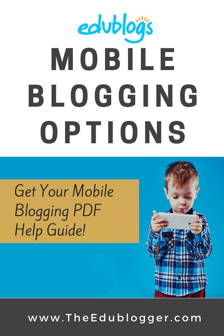 Mobile Blogging Options and a Printable PDF Cheat Sheet | Edublogs WordPress