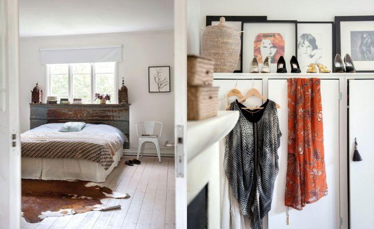 sovrum och klädskåp Foto Magdalena Björnsdotter