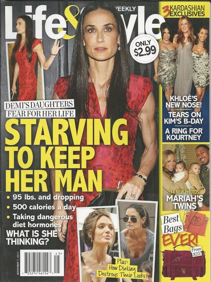 Life and Style magazine Demi Moore Star diets The Kardashians Mariah Carey