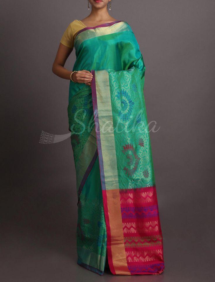 Shraddha Design Border Contrast Pallu Rich #WeddingSilkSaree