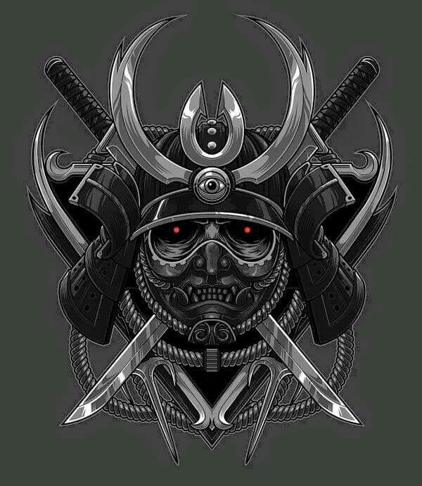 88 besten tattoo bilder auf pinterest samurai maske. Black Bedroom Furniture Sets. Home Design Ideas