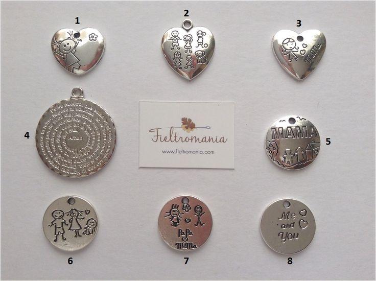 Colgantes de la colección Family de Fieltromania
