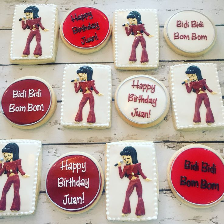 Selena quintanilla cookies by Hayleycakes and cookies in Austin, Texas!