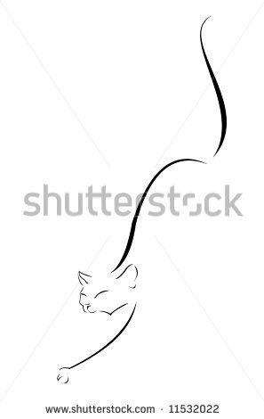 Silhouette-cat-black Stock Vectors & Vector Clip Art | Shutterstock
