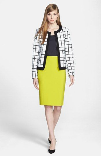 BOSS HUGO BOSS Front Zip Jacket, Top & Pencil Skirt