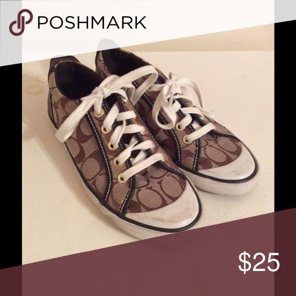 Coach Barrett tennis shoes Cute brown Coach tennis shoes Coach Shoes Sneakers