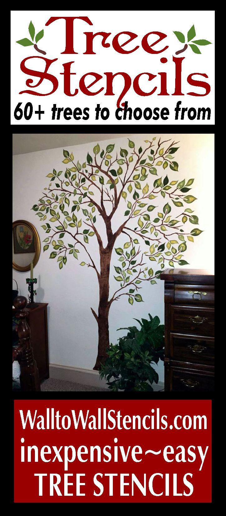 25 unique tree stencil ideas on pinterest cut canvas tree tree stencils from wall to wall stencils amipublicfo Gallery