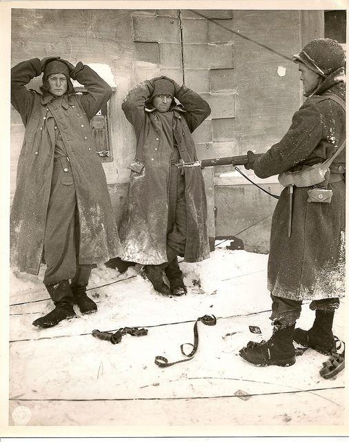 German SS POWs in Belgium.
