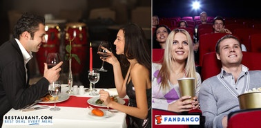 Perfect for #datenight! 35 bucks for dinner and a movie from Restuarant.com and Fandango on #zulily.""