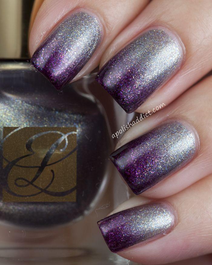 A Polish Addict. Purple/silver ombre