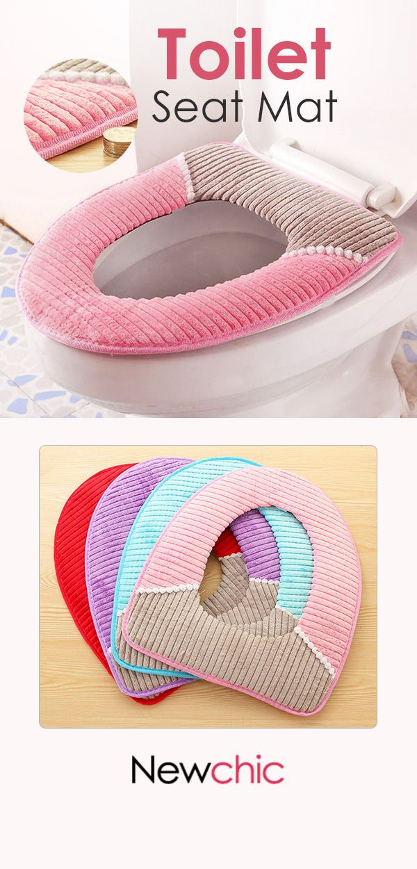 Us 6 45 Warmer Fleece Winter Toilet Seat Cover Waterproof Thick