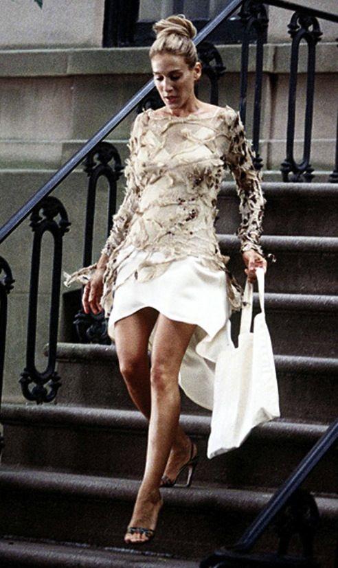 Carrie Bradshaw wearing Roberto Cavalli