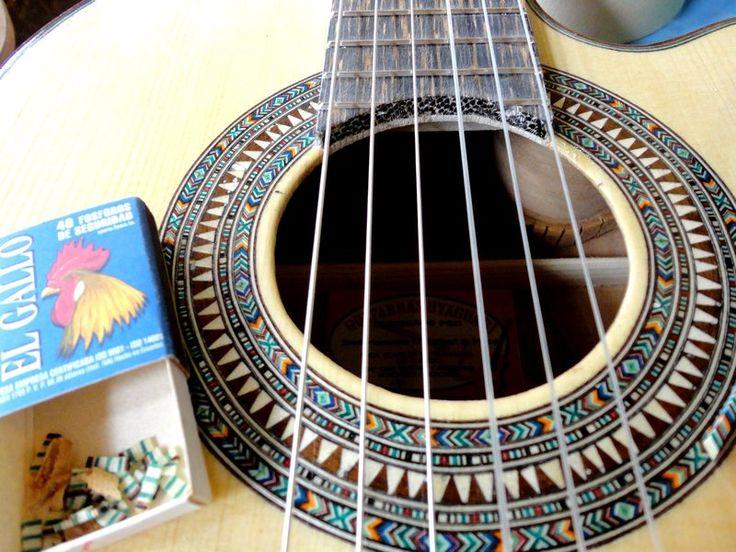 Intricate Guitar Rosette Inlay