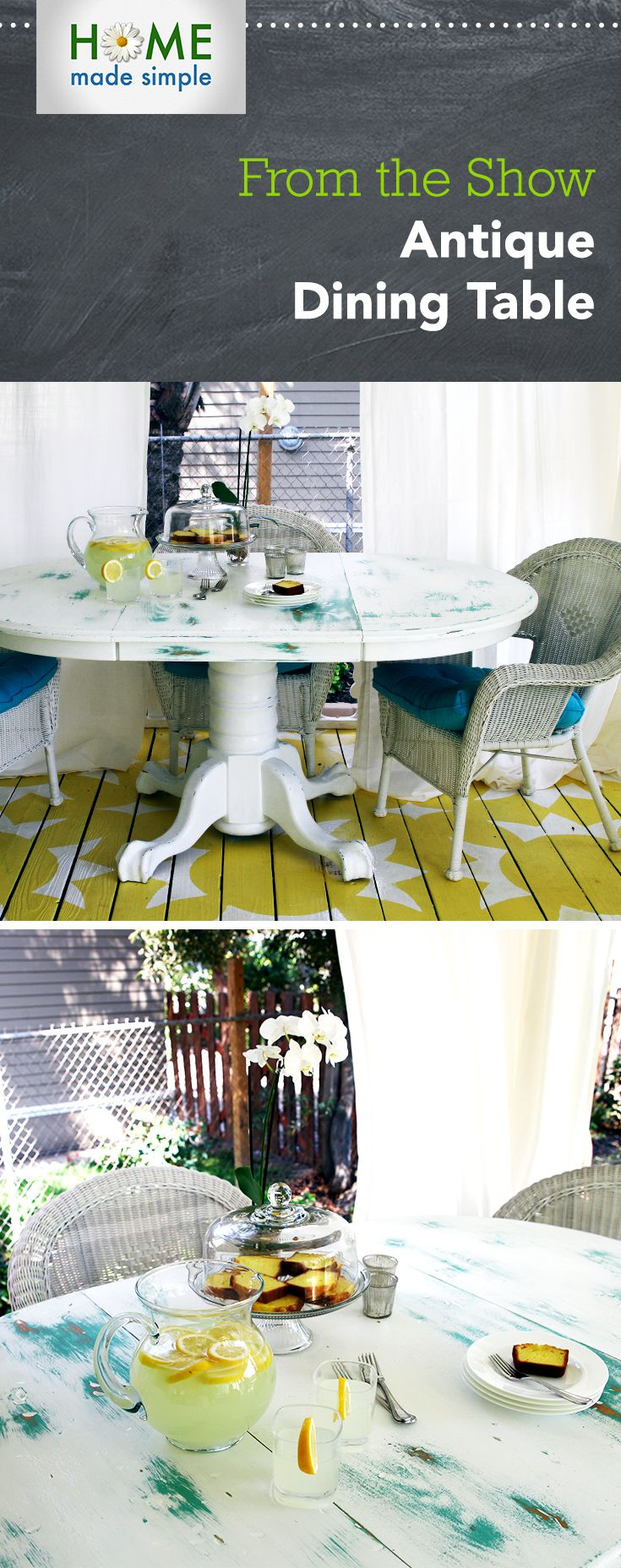 Give your dining table a rustic antiqued look with kenneth wingards step by step home made simplehome