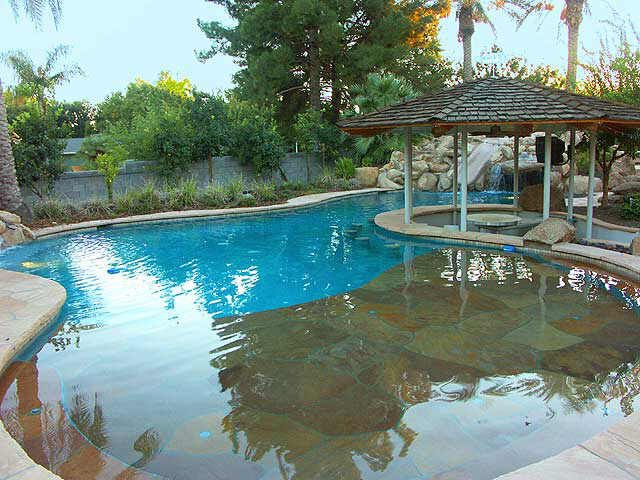 167 best images about pool on pinterest pool houses for Walk in pool designs